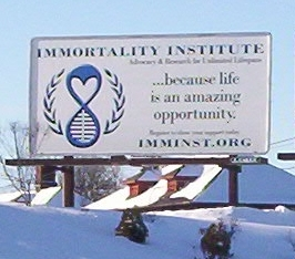 Immortality Institute Billboard December 2010
