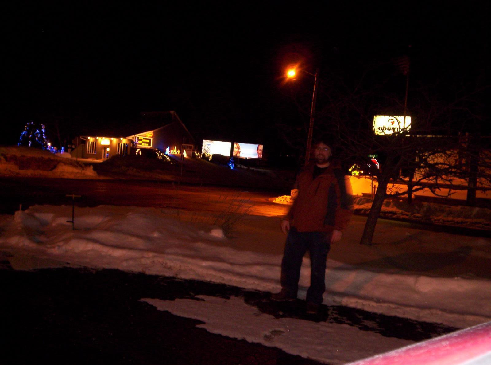 Immortality Institute billboard night shot
