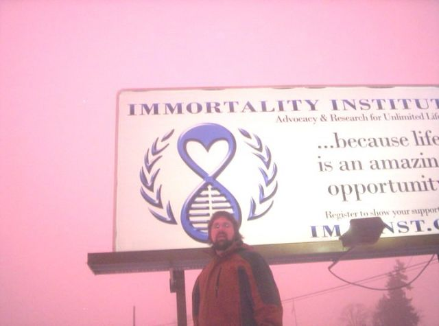 Immortality Institute billboard, up december 2010 to january 2011