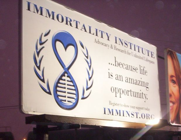 Immortality Institute billboard from December 30th 2010