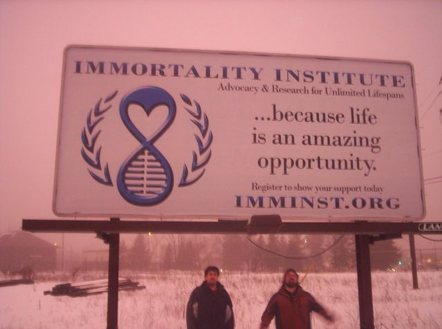 Immortality Institute Advertising in the land of Brick and Mortar