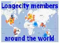 Longecity Members Map