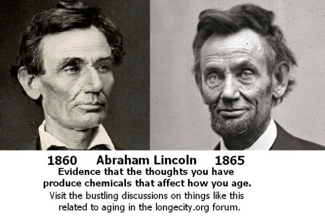 Abraham Lincoln aging stress thoughts chemicals Longecity 1860 1865