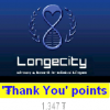Longecity Volunteer, Take Action, Thank You Points