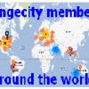 Longecity Members Map