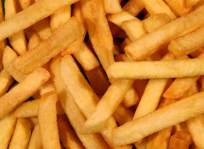 French fries contain dramatically higher amounts of AGEs than boiled potatoes. The deep-frying process together with the sugar that is often added to make fast-food french fries create an environment where AGEs can form a lot more easily.